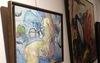 """Alkis PIERRAKOS - Painting - """"La femme aux bottes rouges"""""""