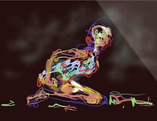 Nicole LEIDENFROST - Druckgrafik-Multiple - Dance Studies Nr.3