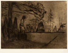 Edvard MUNCH - Print-Multiple - The Garden at Night
