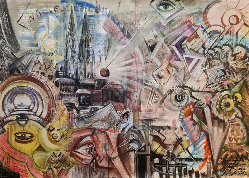 Eric HUBBES - Painting - Der Dom - Cologne