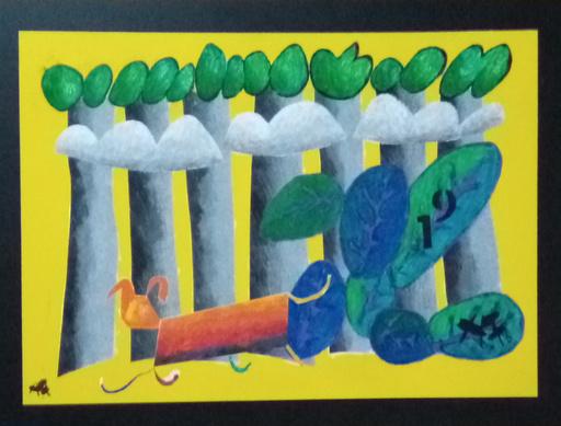 Harry BARTLETT FENNEY - Pintura - orange dog