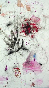 Hubert SCHEIBL - Drawing-Watercolor - shadows and tatoos