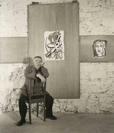 André VILLERS - Photo - Fernand Léger chez Roland Brice à Biot