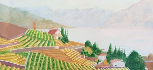 György ACS - Pittura - Vignes d'été en Lavaux