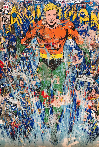 MR BRAINWASH - Grabado - Aquaman