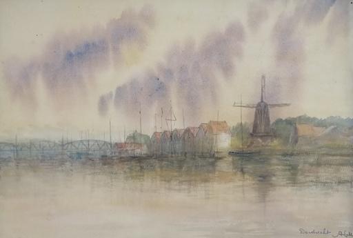 Alfred KELLER - Dibujo Acuarela - Dordrecht - Pays Bas - (KP25)