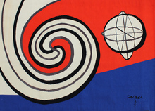Alexander CALDER - Tapestry - The Sphere and the Spirals