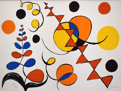 Alexander CALDER - Stampa Multiplo - Composition I, from The Elementary Memory | La mémoire éléme