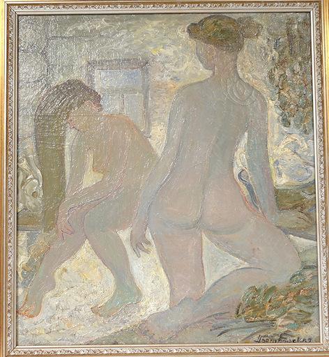 N. BOGORODSKAIA - Pintura - Femmes à la toilette