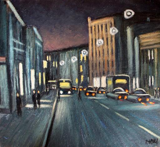 Valeriy NESTEROV - Painting - Sretenka street. Moscow