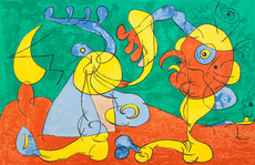 Joan MIRO - Print-Multiple - The Nobles at the Trapdoor III, from: Series for King Ubu