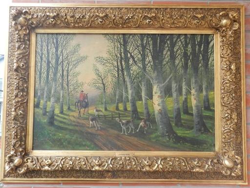 Jules VERNIER - Painting - Fox Hunting