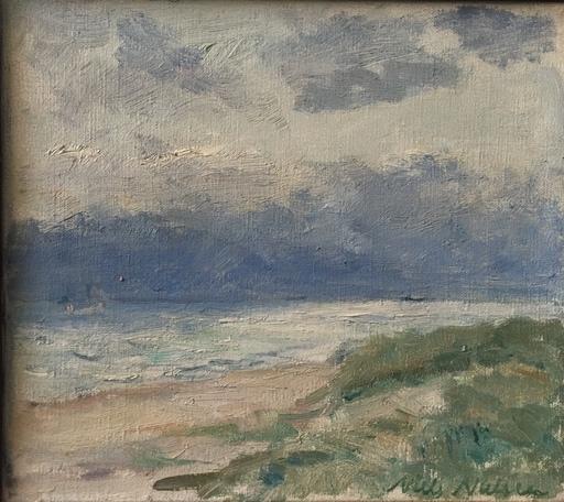 Niels NIELSEN - Gemälde - BORD DE MER ET VEGETATIONS