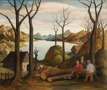 Robert AIGNER - Painting - Holzfäller