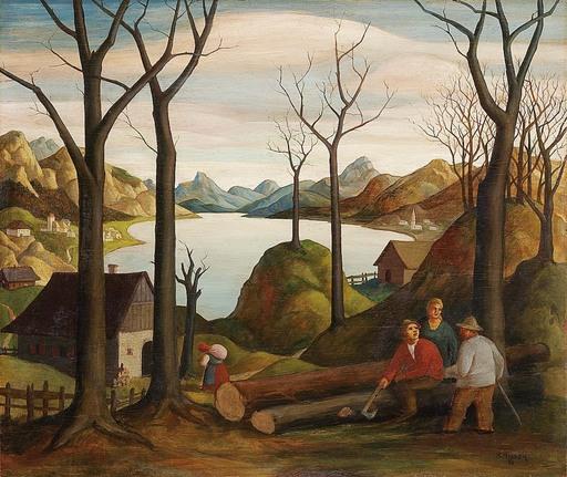 Robert AIGNER - Pintura - Holzfäller