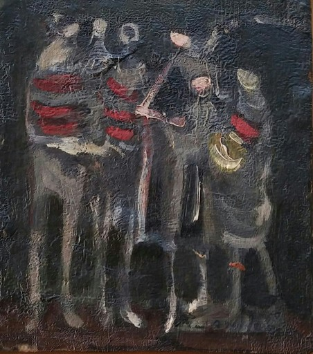 Alfred ABERDAM - Painting - Group of Figuers