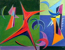Werner DREWES - Pittura - FINAL SPURT - 1949