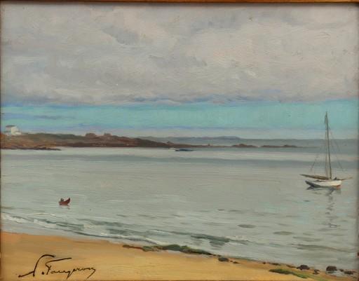 """Adolphe FAUGERON - Pintura - """"QUIBERON, LA PLAGE"""""""