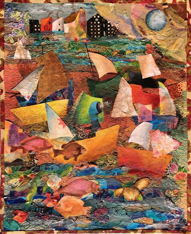 OSANNE - Pintura - Les flots à la voile