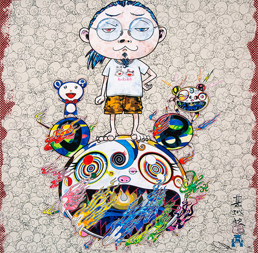 Takashi MURAKAMI - Grabado - Obliterate the self and even a fire is cool