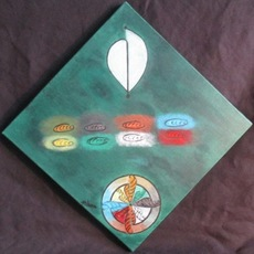 ATCHAMA - Painting - feuille de la conscience