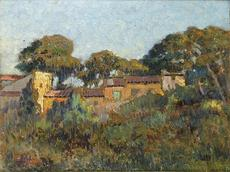 Joaquín TERRUELLA MATILLA - Pintura - Paisaje con casas