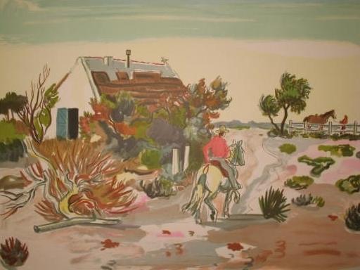 Yves BRAYER - Grabado - La cabane gardianne,1974.
