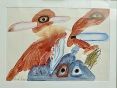 LUCEBERT - Drawing-Watercolor - Untitled