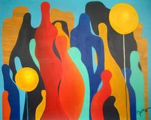Brigitte THONHAUSER-MERK - Pintura - Gedränge