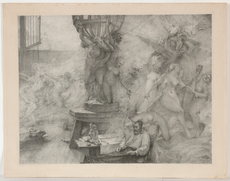 "Albert Pierre René MAIGNAN - Pintura - ""Artist's Dream"", large lithograph, 1892"