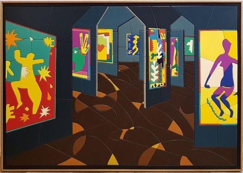 Ugo NESPOLO - Painting - Matisse al Museo