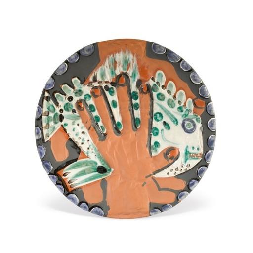 Pablo PICASSO - Ceramiche - Mains au poisson