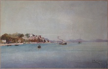 "Louis NATTERO - Pintura - ""Bord de mer près de Toulon"""