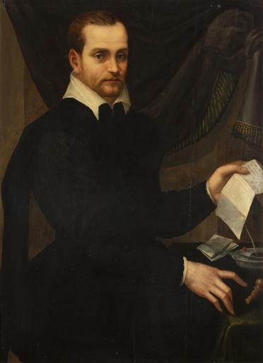 Tommaso d'Antonio MANZUOLI - Painting - Gentiluomo con lettera