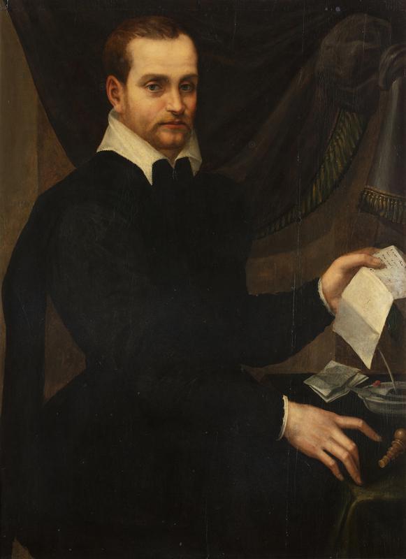 Tommaso d'Antonio MANZUOLI - 绘画 - Gentiluomo con lettera