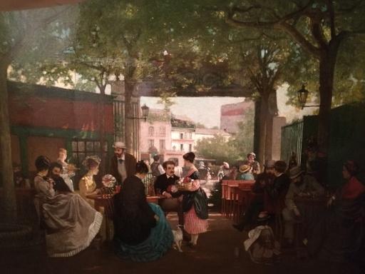 René A. ROUSSEAU-DECELLE - Painting - la guinguette á Paris