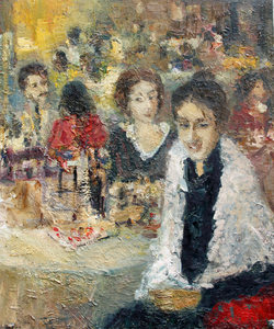 Levan URUSHADZE - Painting - At the restaurant