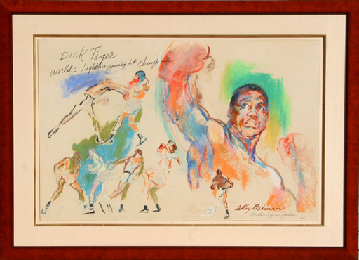 LeRoy NEIMAN - Painting - Dick Tiger