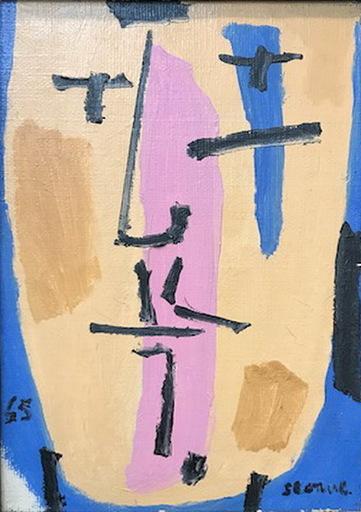 Luis SEOANE LOPEZ - Painting - CABEZA