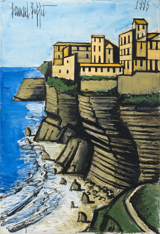 Bernard BUFFET - Painting - L'entrée de Banifacio