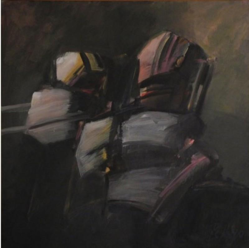 Orlando PELAYO ENTRIALGO - Peinture - Regard d'éternité, Œil de l'instant