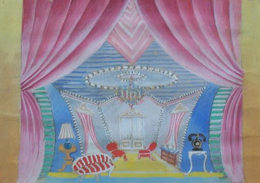 Serge FÉRAT - 绘画 - Theater Interiour Design