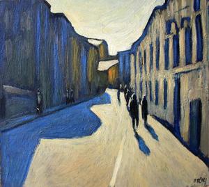 "Valeriy NESTEROV - Peinture - ""Moscow. Lukov Lane"""