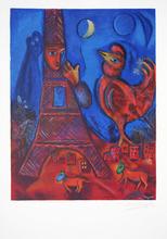 Marc CHAGALL (1887-1985) - Bonjour Paris