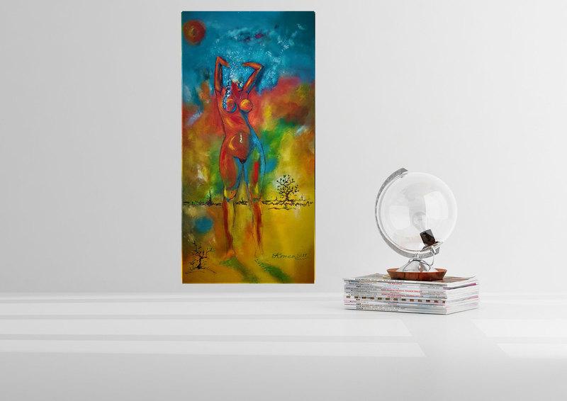 Romeo DOBROTA - Painting - Et Dieu Crea la Femme, Acrylic on canvas, 51x101 cm, SKU 117