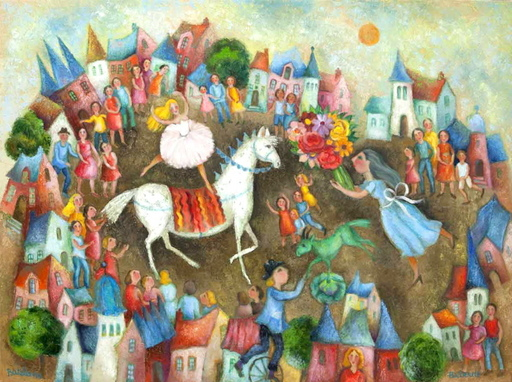 Françoise DEBERDT - Gemälde - Bateleurs