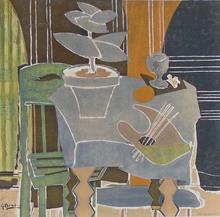 Georges BRAQUE - Estampe-Multiple - Still Life with Palette | Nature Morte à la Palette