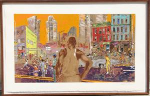 LeRoy NEIMAN - Stampa Multiplo - Harlem Streets