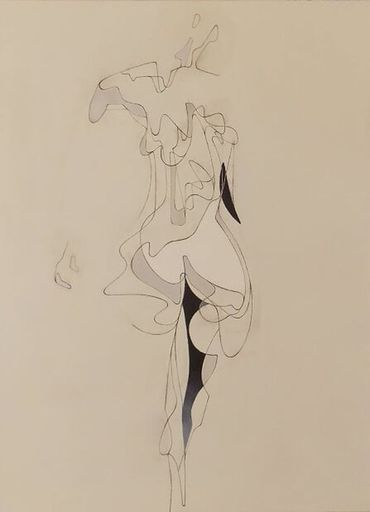 Milburn FOSTER - Peinture - Anatomy study for a Woman Walking