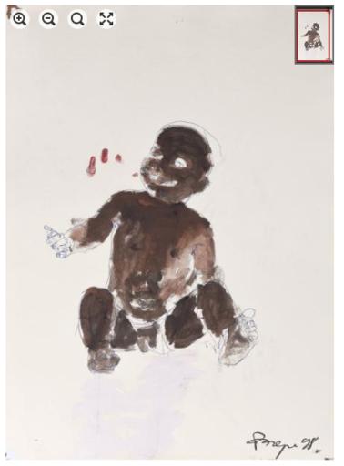 Philippe PASQUA - Peinture - Bébé noir